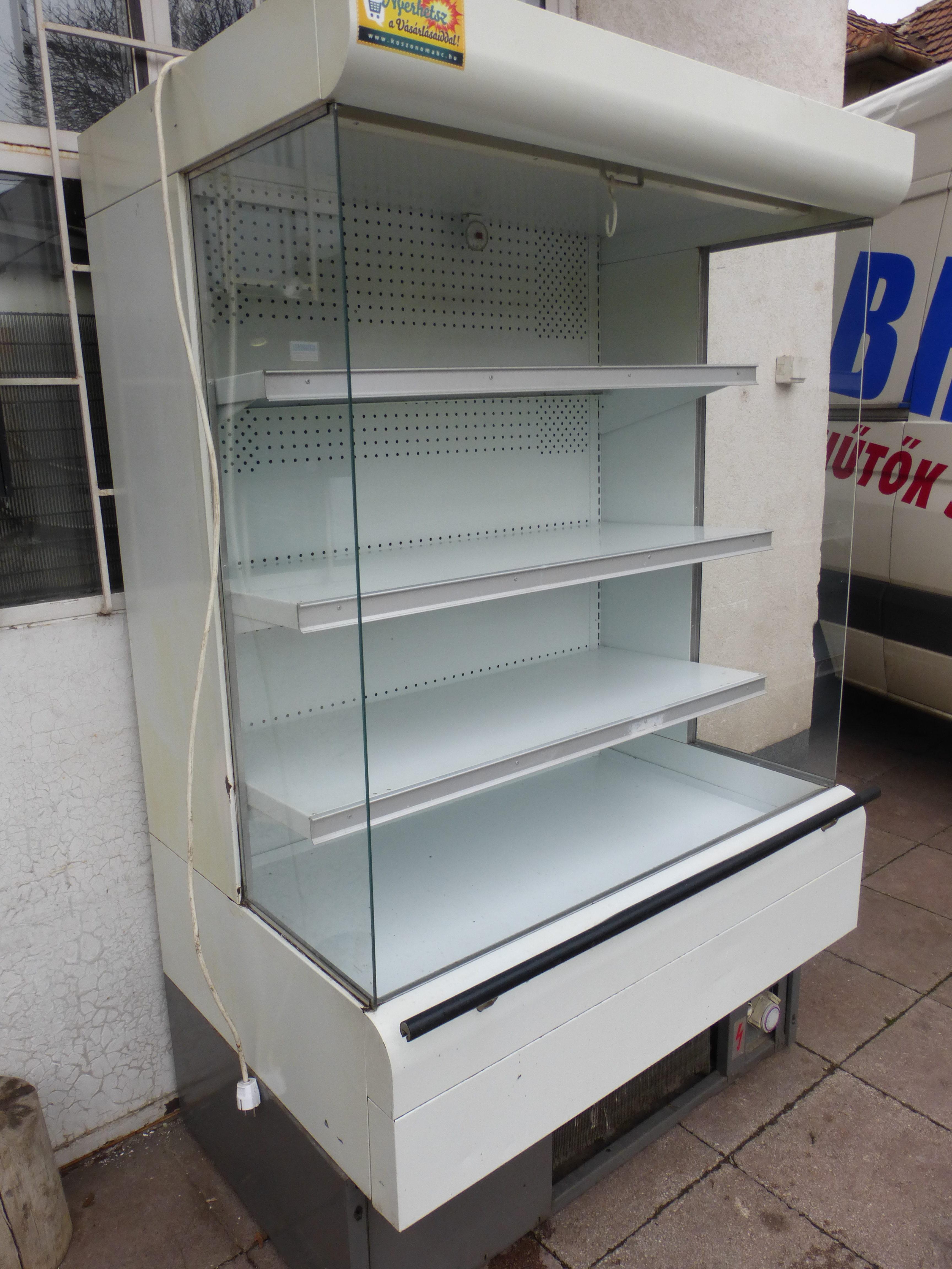 Bolti Tejhűtő Regál 115cm